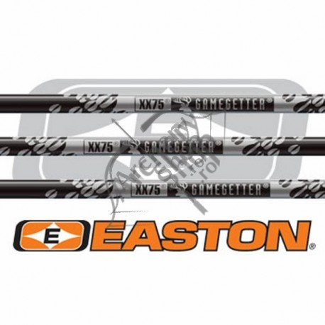"EASTON GAMEGETTER CU PENE NATURALE 5"" CUSTOM SAGETI ALUMINIU"
