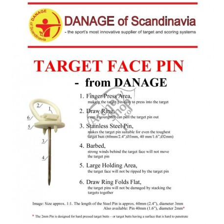 DANAGE SET METAL PINS 60MM- CUIE FIXARE TINTA SET 8 BUC