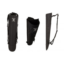 QUIVERS FOR TRADITIONAL BACK ADVENTURE NYLON AMBIDEXTROUS 56cm BLACK