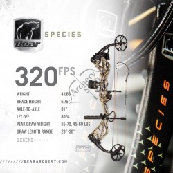 BEAR ARCHERY COMPOUND BOW PACKAGE SPECIES READY TO SHOOT KIT