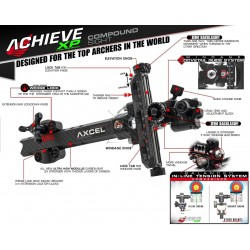 AXCEL SIGHT ACHIEVE XP CARBON BAR RECURVE 9""