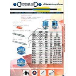 AVALON CLASSIC/SKYLON RADIUS SHAFTURI CARBON SET 12