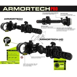 "AXCEL APARAT DE OCHIRE ARMORTECH HD 5 PIN 0.019"" SIGHT"