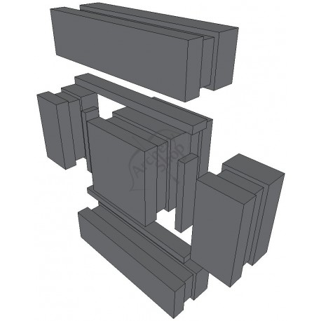 DANAGE MICRO DOMINO TARGET 44 X 44 X 14.5CM