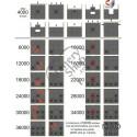 DANAGE DOMINO TARGET 132/132/14.5CM CU 3 CENTRI 24.5