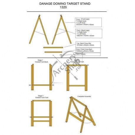 DANAGE MINI GROUND TARGET STAND TYPE C OR D