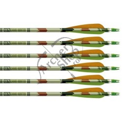 "EASTON CAMOHUNTER CU PENE NATURALE 4"" CUSTOM SAGEATA ALUMINIU"