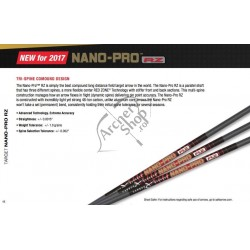 "CARBON EXPRESS SHAFTS NANO PRO RZ .0015"" SET 12 BUC"