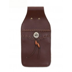 BUCK TRAIL FIELD POCKET  TOLBA BROWN LEATHER QUIVER