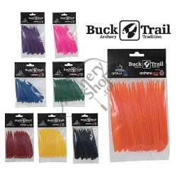 BUCK TRAIL FEATHERS SHIELD/ROUND PENE NATURALE 3""